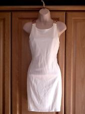 MISS SELFRIDGE CREAM GOLD LINK STRAP DRESS SIZE 12 *NEW WITH TAGS* RRP £39