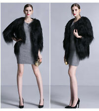Real Goat Fur (мех козы) Jacket  Coat  ( length  70 cm -27.7 in)