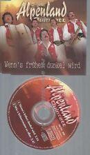 CD--ALPENLAND QUINTETT,ORIGINAL--WENN'S FRHER DUNKEL WIRD