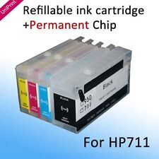 For HP711 Refillable cartridge with permanent chip for Designjet T120 T520