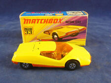 Matchbox Superfast MB - 33 b Datsun 126X in Yellow Orange painted base