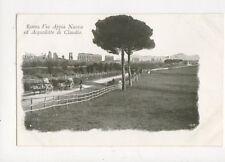 Roma Via Appia Nuova ed Acquedotto di Claudio Vintage U/B Postcard Italy 442a