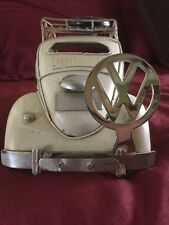 VW License Plate Topper-Vintage Volkswagen Chrome VW Decal.