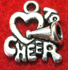 "10Pcs. Tibetan Silver ""LOVE TO CHEER"" Charms Pendants Earring Drops SP35"