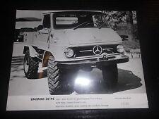 Original  Mercedes Benz Pressefoto Unimog 30 PS geschlossenes Fahrerhaus LKW
