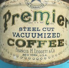 Antique Coffee Tin Francis H. Leggett Co. Very OLD and RARE Fabulous Look
