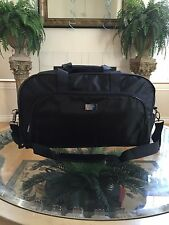 HUGO BOSS Large Black Duffle Weekender Travel Overnight Gym Shoulder Duffel Bag