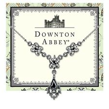 Downton Abbey Antique Silver Tone & Hematite Necklace  17722  Free Shipping