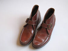 Vintage Bass Weejun Buckle Leather Ankle Boot Shoes Hipster 11