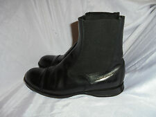 HOGAN LADIES WOMEN'S BLACK LEATHER  SLIP ON ANKLE BOOTS  SIZE UK 4.5 EU 37.5 VGC
