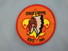 """Boy Scouts of America CAMP OWASIPPE 3"""" Patch-Oldest Scout Camp in U.S. RETIRED"""