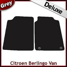 Citroen Berlingo Van Mk1 1996-2007 2-Clips Tailored LUX 1300g Carpet Mats GREY