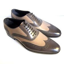 C-1370 New Ermenegildo Zegna Leather Oxford Shoes Size US 11 D Marked 10 EE