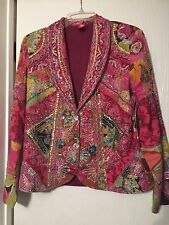 Sandy Starkman Sequine Bling Pink Jacket Size M (NEW)
