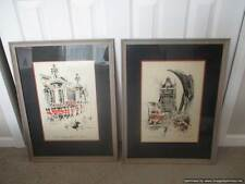 John Haymson 1903-1980 Signed Watercolors of London