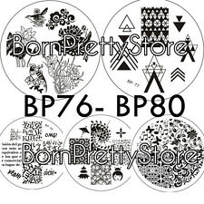 5Pcs/set BORN PRETTY Nail Art Stamping Plates Image Stamp Template BP76-80