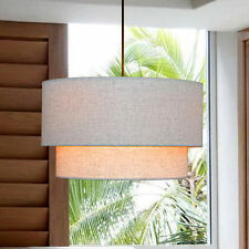 Contemporary Fabric Drum Shade Ceiling Light Fixture Chandelier Pendant Lamp New