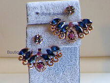Antique Gold Earrings,Ear cuff,Ear jackets,Ear climbers,Sapphire Ruby Ear hoop