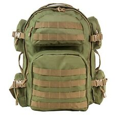 NcSTAR Tactical MOLLE Hunting Hiking Camping Range Backpack OD Green Tan Trim