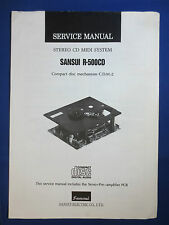 SANSUI R-5000CD C.D.M.-2 MECHANISM SERVICE MANUAL ORIGINAL FACTORY ISSUE