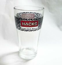 """HACKS Herbal Medicated Candy Sweets Brand Clear GLASS promo MALAYSIA 5"""" tall"""