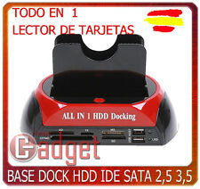 BASE DOCKING DOCK para MAC OS de HDD DISCO DURO IDE SATA 2,5 3,5 LECTOR TARJETAS