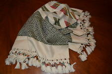 NWT Hollister Women's Winter LARGE Fringe Scarf Knit Winter White- One Size New