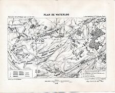 Waterloo 1885 pt. plan orig. + guide (9 p) Prussiens Blücher Wellington Napoléon