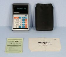 * Vintage Unisonic 840 LED Calculator with Instructions / Case / Registration *