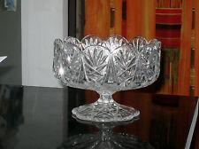 Jolie Grande Coupe à Fruits sur Pied en Cristal ( Haut: 14 cm  Diam: 20 cm )