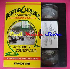 VHS film ACCADDE IN CORNOVAGLIA Agatha Christie collection DEAGOSTINI(F88)no dvd