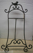 METAL EASEL / SOLID METAL BIRD GREAT FOR PICTURE BOOKS PLATES ART COOK BOOKS