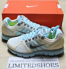 WMNS NIKE LUNARGLIDE 2 METALLIC SUMMIT WHITE GREY BLUE 407647-004 US 5 Womens