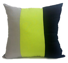 large 3 tone cushions + covers or covers only lime green black grey