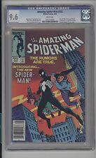 Amazing Spider-Man #252 CGC 9.6 (W) 1st Black Costume Ron Frenz Newsstand
