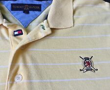 Tommy Hilfiger  Golf Polo Shirt Size Men's Large Yellow Gold