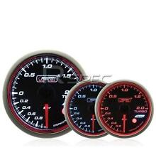 Prosport 60mm Turbo Boost Gauge BAR Smoked Stepper WRC Style