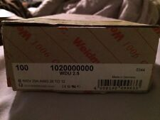 QTY 40 WEIDMULLER 1020000000 WDU 2.5 TERMINAL BLOCKS TAN New
