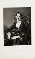 "Steel Engraving from ""HEATH'S BOOK OF BEAUTY"" - Hon. Mrs. Henry Baillie - 1844"