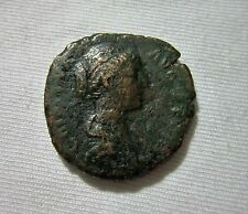 AE AS. FAUSTINA JR. WIFE OF MARCUS AURELIUS. 161-175 AD. CONCORDIA REVERSE.