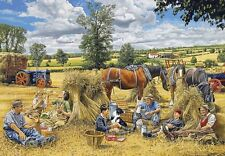 Gibsons Harvest Lunch by Trevor Mitchell 250 piece nostalgic country jigsaw