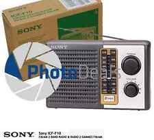 NEW Portable Sony Radio FM/AM 2-Band ICF-F10