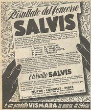 W6544 Estratto SALVIS - Pubblicità 1943 - Advertising
