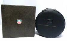 TAG HEUER GREY ROUND SEMI HARD WATCH PRESENTATION BOX W/ PILLOW AND OUTER BOX