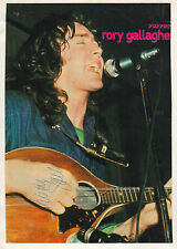 Rory Gallagher Autogramm signed A4 Magazinbild