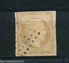 Greece stamp 1861 Hermes Head 2 L without numbers on back  SB2