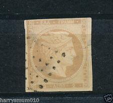 La grèce stamp 1861 hermes head 2 l sans numéros au dos SB2