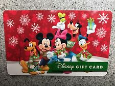 WALT DISNEY WORLD SPARKLE BANNER CHRISTMAS SNOW NEW GIFT CARD, NO CASH VALUE.