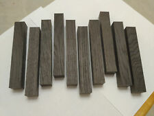 Ten DARK BROWN bog oak (morta, wood) blanks for pens from 1270-3560 years