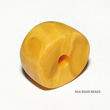 1 old antique natural amber bead morocco #83 8.1g 克天然琥珀珠